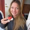 Philidelphia och jordgubbar på LCHF knäckebröd