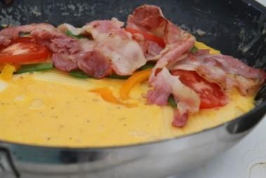 Detta kallar vi en färgglad omelett!