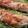 Kokos- & Pepparrotspannerad kummelfisk med lättstekta ärtskott