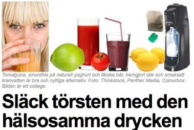Hälsosamma alternativ till dryck!
