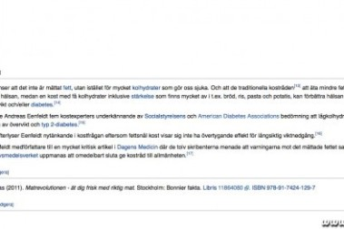 Inte illa, kostdoktorn på Wikipedia