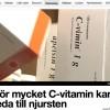 C-vitamin inte som man trott…