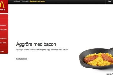 McDonalds fixar äggröra & bacon