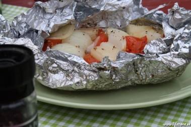 Grillad lök med tomat o smör