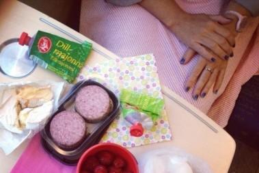 Tåg och picnic