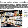 Striden om maten missar evolutionen