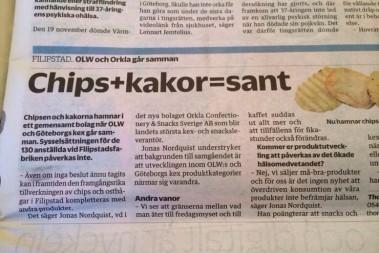 Chips + kakor = sant
