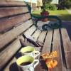Trädgårdsfix o lchf fika