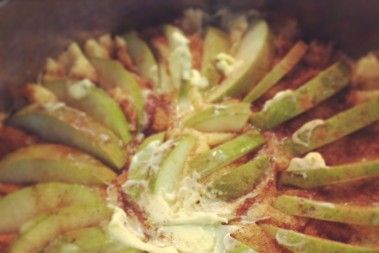 Lchf päronkaka med vanilsås