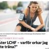 Orkar ej träna på LCHF (?)