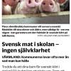 Ej svenskproducerad mat i skolan