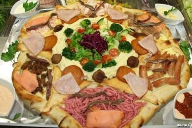 Hela julbordet, på EN pizza!!!