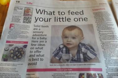Barnmatsboken i största tidningen