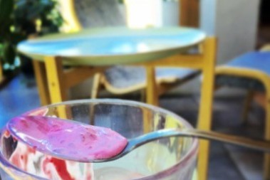 Lite egen LCHF glass i sommarvärmen