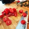 LCHF tomatsoppa med riven parmesanost! Sååå gott!