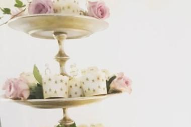 Hälsosam bröllopstårta (muffinstorn)