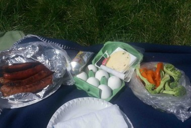 LCHF picknick på Bö sommarland
