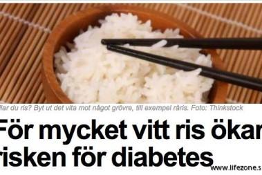 Vitt ris och diabetes