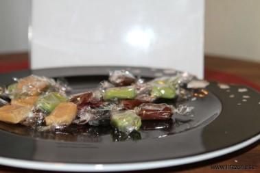 Bemött med en skål av godis