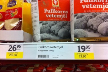 Högt kilopris på mjöl