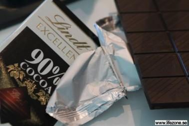 Hälsosamt med mörk choklad