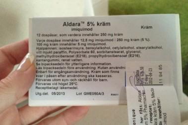 Aktinisk Keratos har jag blivit diagnostiserad  med och behandlas med cellgift :(