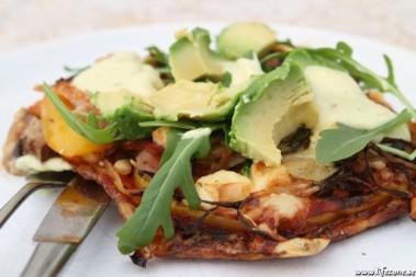 LCHF pizza, söndagskvällen!