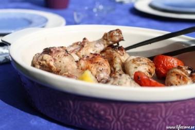 Kycklingen framdukat