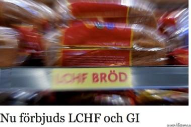 LCHF och GI förbjuds