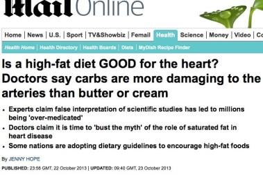 Läkare säger att kolhydrater är mera farligt än fett (yes!)