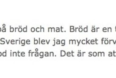 """""""Bröd är mat"""""""