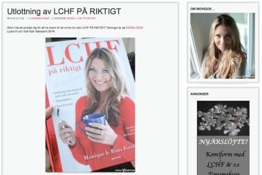 Grattis till vinnaren av: LCHF PÅ RIKTIGT