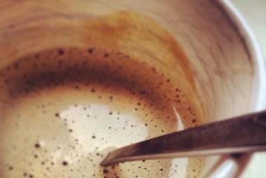 Fettkaffe m gaffel! Mindre bra variant…
