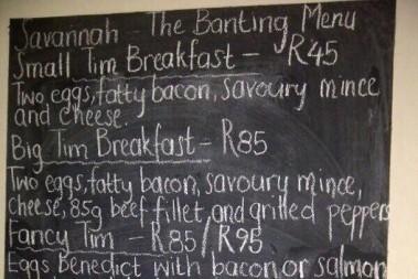 En fet frukostmeny efter guru