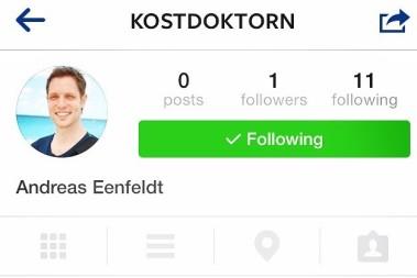 Nuuu finns kostdoktorn på instagram