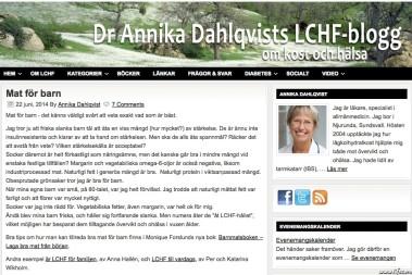 Annika Dahlqvist om Barnmatsboken