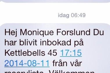 Ett tidigt sms!