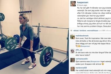 Kristin Kaspersen slutat med vetemjöl