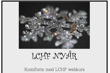Dags att bli av med december kilon – LCHF!