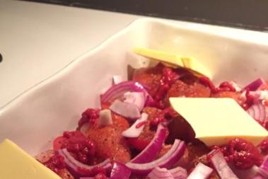 LCHF kyckling i ugn med zucchinispaghetti