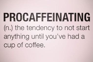 Inte utan mitt kaffe…
