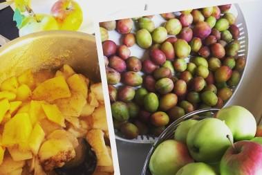 Fruktmos till mellis! Bra barnmat…
