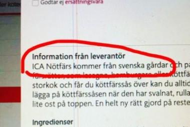 Svenskt kött från Irland(?)