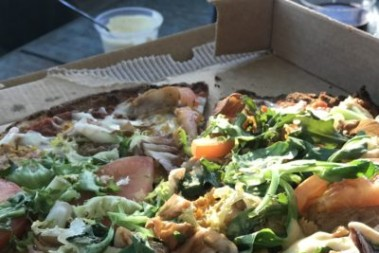LCHF pizza från pizzerian