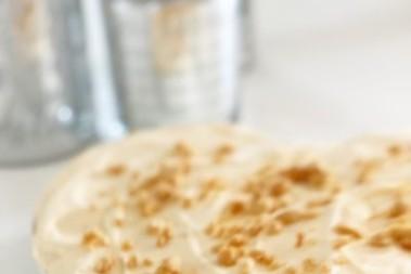 Citron- & jordnötskaka m frosting (sjukt gott)