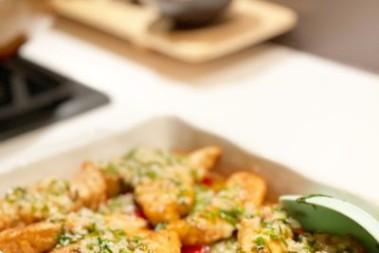 Buerre Blanc med kyckling på tomatbädd