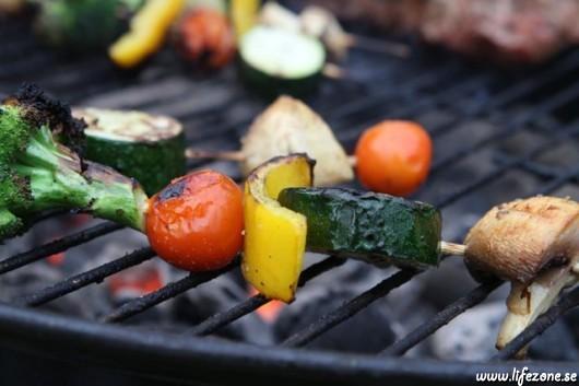 Våra grönsaksspett på gång.