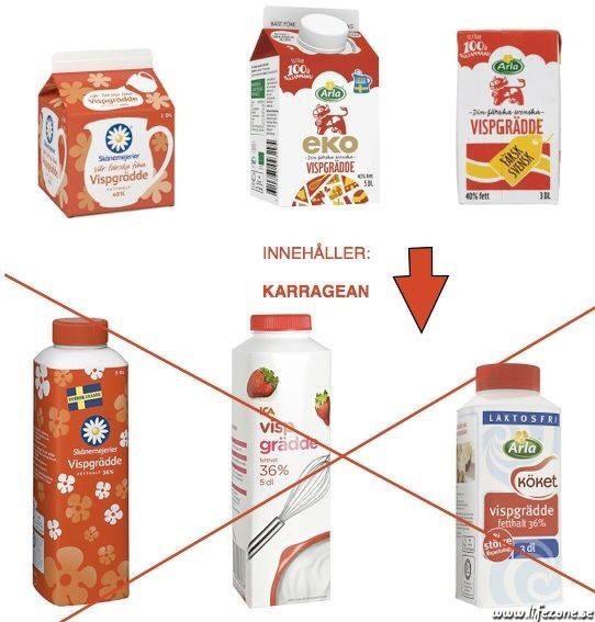 laktosfri grädde utan karragenan