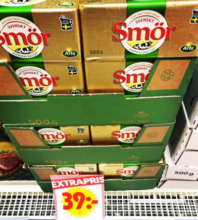 vad kostar smör